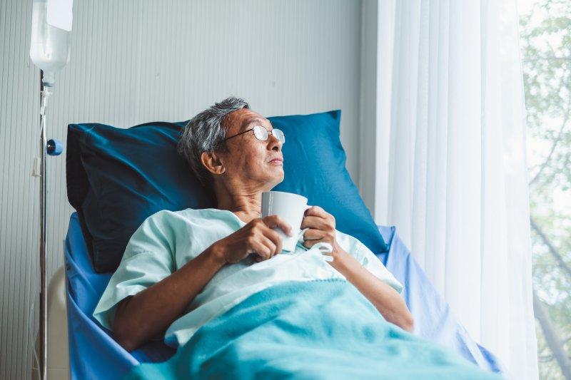 older man in hospital